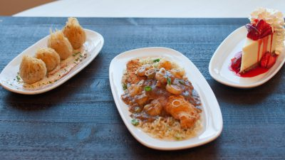 seafood and cheesecake dishes