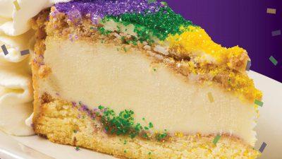 mardi gras cheesecake